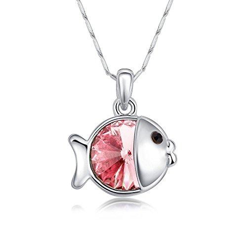 LaxBa Collana a ciondolo corto in collana di cristallo coreano di pesce  piccolo Elfo Gioielli di 1d276453e924