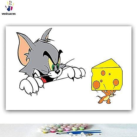Kykdy Dibujos Para Colorear Diy Por Números Con Colores Tom