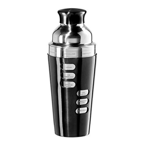 Oggi 7387.3 23-Ounce Stainless Steel Cocktail Shaker, Black (Best Hurricane Cocktail Recipe)