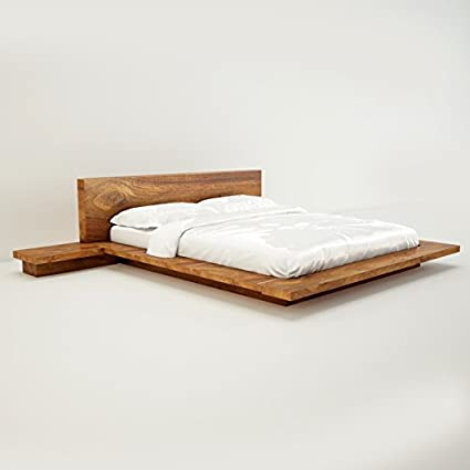 Amaani Furniture S Solid Wood Queen Size Bed Natural Wood Amazon
