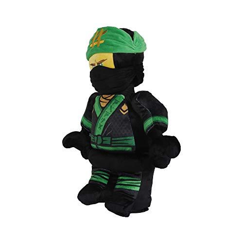 LEGO Ninjago Lloyd Warrior Character Shaped Soft Plush Cuddle Pillow, Green/Black]()