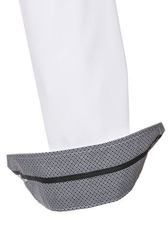 Pure Slim Fit Chemise à manches longues Structure Blanc