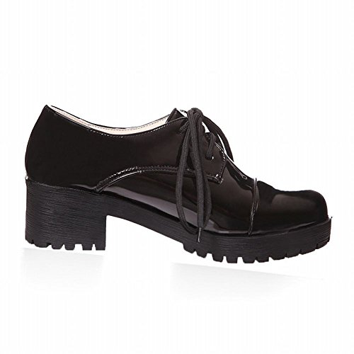 Latasa up Black Oxford Lace Women's Heel Shoes Chunky r0qHrInR