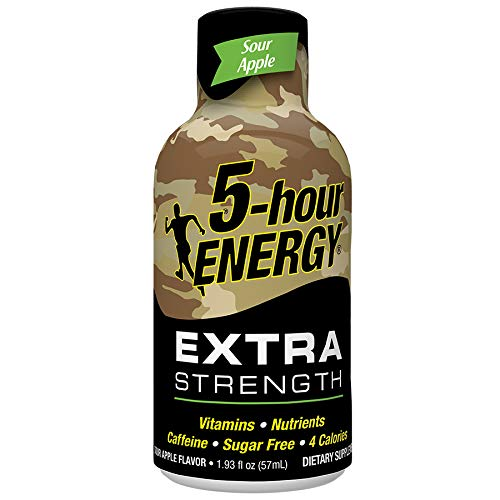 5 Hour Energy Shot Extra Strength Sour Apple 24 Pack of 2 Ounce Bottles, Brown ()