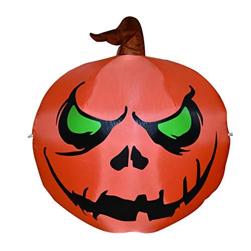 GOOSH 4 Ft Halloween Inflatables Pumpkin,Blow up Pumpkin and Owl for Halloween Yard Outdoor Decorations Halloween inflatables Pumpkin