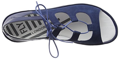 Fly London Mura859fly, Sandali a Punta Aperta Donna Blu (Blue)