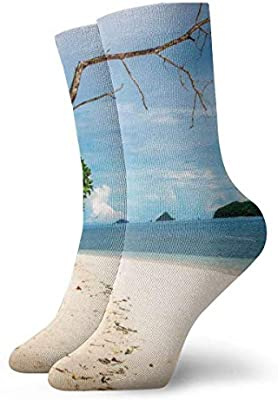 wonzhrui Beach Branches Adult Socks Cotton Cozy Short Socks ...