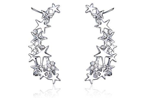 ystal Star Ear Cuffs Earrings 1 Pair ()