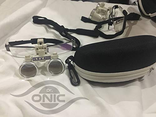 Dr.Onic Surgical Binocular Loupe 3.5X,Working Distance 320-420mm with Frames ISO CE
