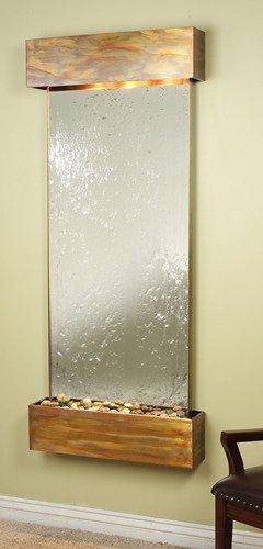 Adagio Inspiration Falls Wall Fountain Silver Mirror Rustic Copper - IFS1040 by Adagio Water Features