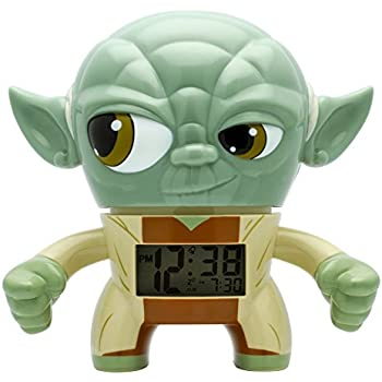 BulbBotz Star Wars Yoda Kids Light Up Alarm Clock | green/brown | plastic | 7.5 inches tall | LCD display | boy girl | official