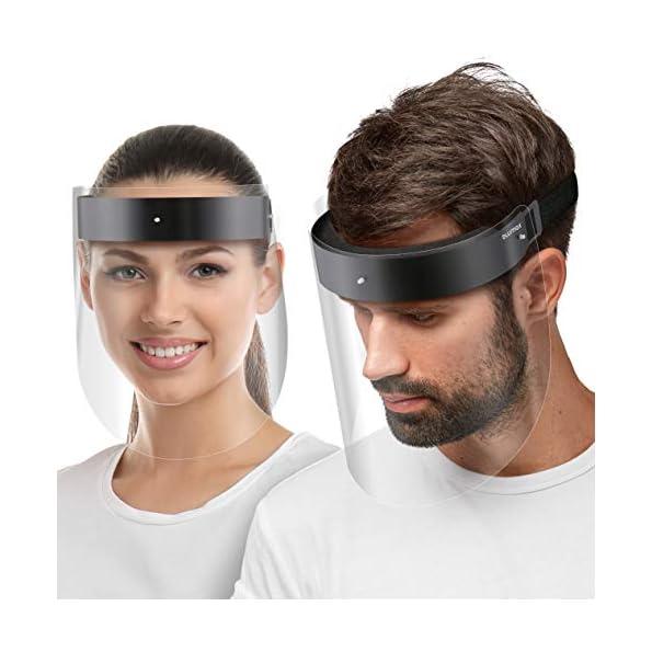 Blumax-Visier-Gesichtsschutz-Schirm-aus-robustem-Kunststoff–Face-Shield–Schutzschild-Gesicht-klare-Sicht-5X-Halterung-10-Visiere