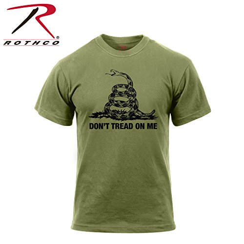Rothco Don't Tread On Me T-Shirt, Olive Drab, XX-Large by Rothco