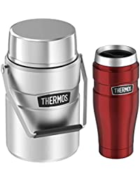 Thermos Stainless King Travel Tumbler 16 oz and Big Boss...