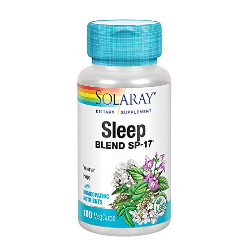 Solaray Sleep Blend SP-17 | Herbal Blend w/Cell Salt Nutrients to Help Support Healthy Sleep & Relaxation | Non-GMO, Vegan | 100 Serv | 100 VegCaps
