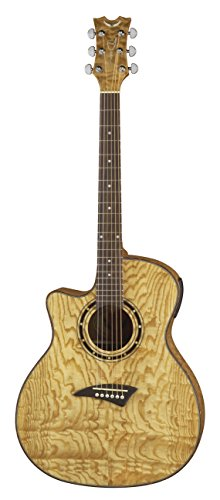 Dean Exotica Quilt Ash Lefty Acoustic-Electric Guitar, Gloss