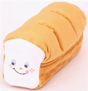 Gracioso estuche lápices peluche pan de molde tostada Japón: Amazon.es: Juguetes y juegos