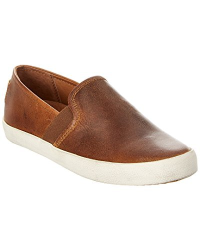FRYE Dylan Leather Slip-On, 7.5, Brown (Shoes Italian Leather Women)