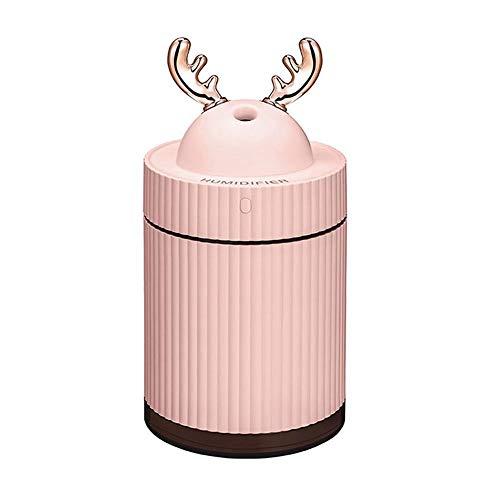 (FOONEE Deer Humidifier, Mini Air Humidifier Cute Deer Cooling USB Cool Mist Vaporizer Humidifier with Night Light for Bedroom Office Desktop Car Travel)