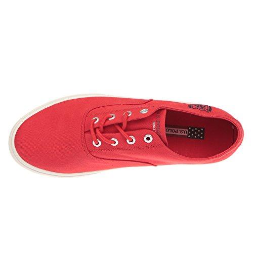 U.S. POLO Zapatos del hombre - estilo de la zapatilla de deporte. GALAN4182S7-CY1 Rojo