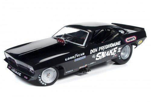 Autoworld AW1177 Don Prudhomme The Snake III 1973 Plymouth Cuda Funny Car Limited Edition to 750pcs 1/18 Model Car - Funny Car Chassis