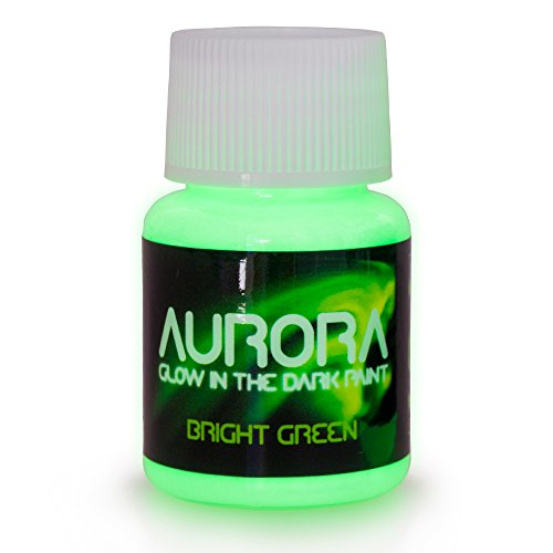 SpaceBeams Glow in The Dark Paint, 1.7 oz (50ml), Aurora Bright Green, Non-Toxic, Water Based for $<!--$9.99-->