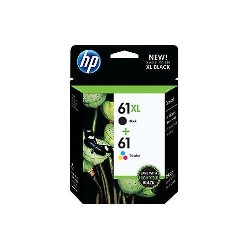 HP 61XL/61 High Yield Black and Standard Tricolor Combo P...