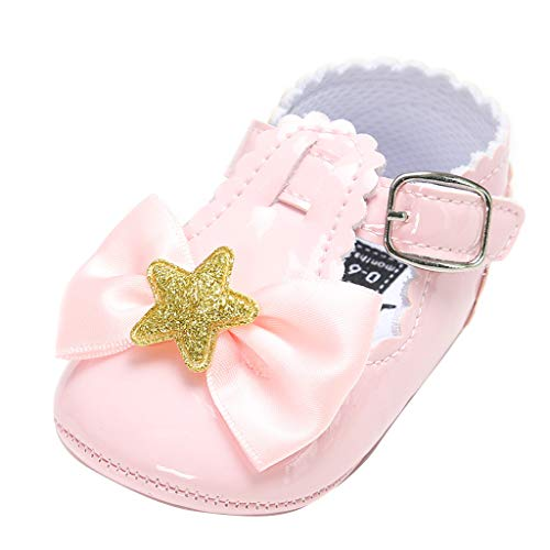 - Tronet Baby Five-Pointed Star Leather Fashion Toddler First Walkers Kid Shoes Pink