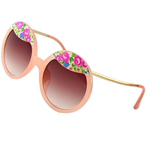 Sumery Ladies Luxury Hairpin Frame Round Lens Sunglasses Women Outdoor Travel Sunglasses (Light Orange, - Knoxville Sunglasses Johnny