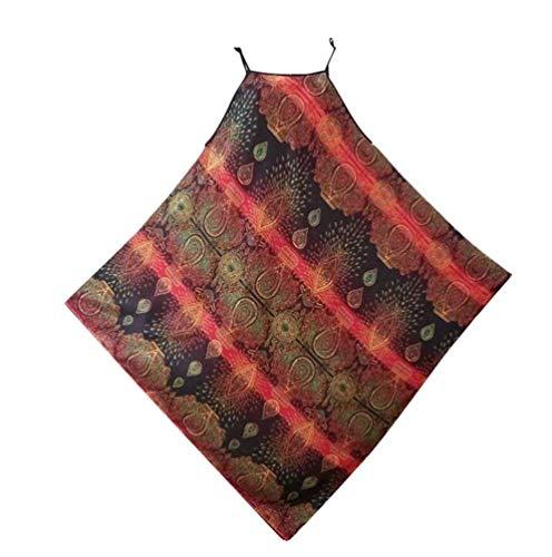 Pyjamas Mode Impression Dame Battercake Xlrot En Soie Vintage Chemise Robe Sans Manches Casual D'été Femmes Nuit De Vêtements HIeD9E2WY