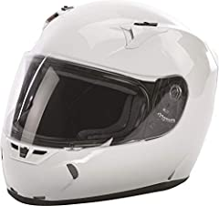 Distinct Name: Gloss WhiteGender: Mens/UnisexHelmet Category: StreetHelmet Type: Full-face HelmetsColor: Gloss WhiteSize: MediumPrimary Color: WhiteMeets or Exceeds DOT and Snell 2015. Durable and Lightweight Polycarbonate ABS Alloy Shell - C...