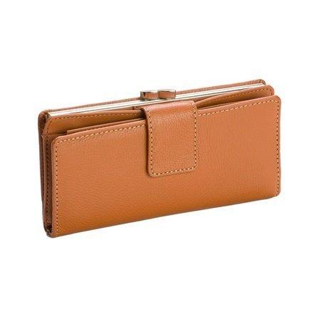 Mundi Cognac Brown Rio Tab Clutch Checkbook Wallet - Mundi Brown Handbag