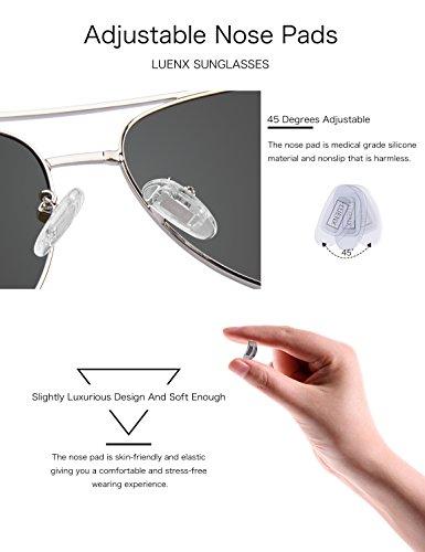 con Mujeres plateado gafas de Para Wayfarer polarizadas de luenx Hombres 5 sol UV400 y nbsp;– nbsp;Funda gafas 8xzaqEf