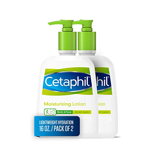 Cetaphil Moisturizing Lotion for All Skin Types, Body and Face Lotion, 16 oz. (Pack of 2)