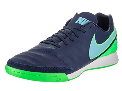 Nike Tiempox Mystic V IC Mens Soccer-Shoes 819222-443_12.5 - Coastal Blue/Polarized Blue-Rage Green (Blue And Green Nike Indoor Soccer Shoes)