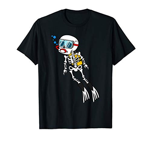 Skeleton Diver Halloween Underwater Scuba Diving DIY Costume T-Shirt