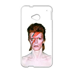 HTC One M7 Cell Phone Case White David Bowie as a gift P9160318
