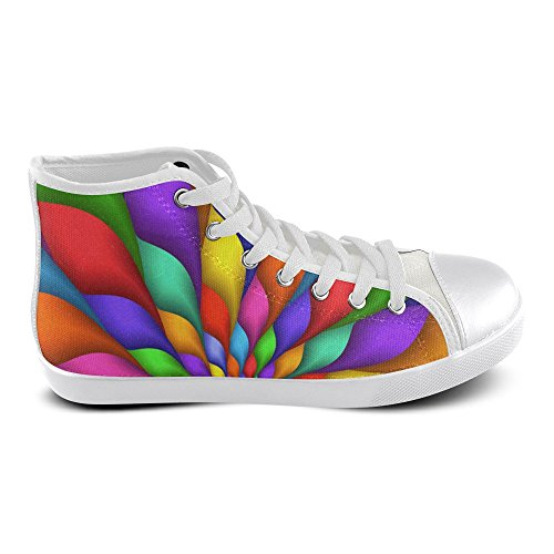 Artsadd Canvas Women For Psychedelic High Spiral Model002 Top Rainbow Shoes RrOnxUR