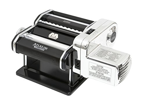Marcato Atlas Pasta Machine with Motor Set, Black, Made in (Made Motors)