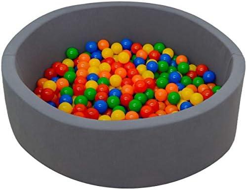 Baby Baby Bällebad 350 Bällchenbad Bälle 90x30cm Ball Pool Bällepool Schaumstoff Grau