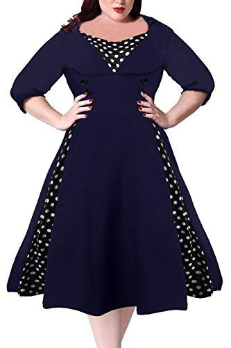 50s style dress plus size - 5
