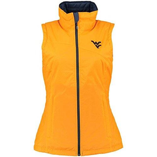 Columbia Columbia West Virginia Mountaineers Women's Gold Reversible Powder Puff Vest アウターウェア ジャケット/アウター 【並行輸入品】