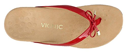 Vionic Sandals Bella Synthetic II Red Patent 44 Womens Rest 1UqWnY1r
