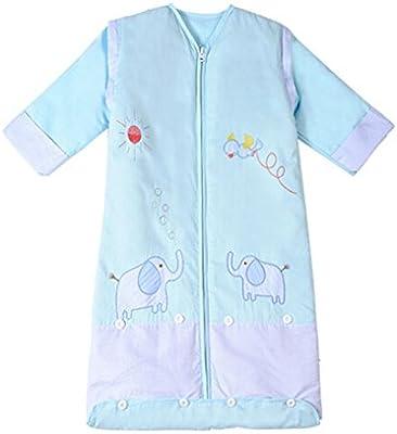 Zicac saco de dormir de invierno para bebé (manga larga, 3.5 tog para 3 meses a 6 años azul azul Talla:M: 1-3 Year