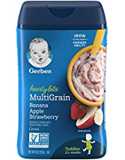 Gerber Hearty Bits MultiGrain Banana Apple Strawberry Cereal, 227g