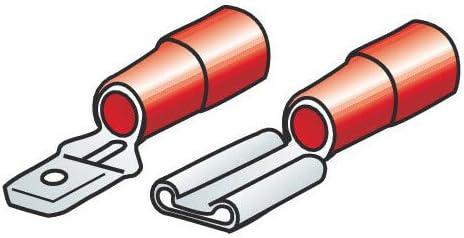 40 Kit-Terminales planos encaje rojo Lampa