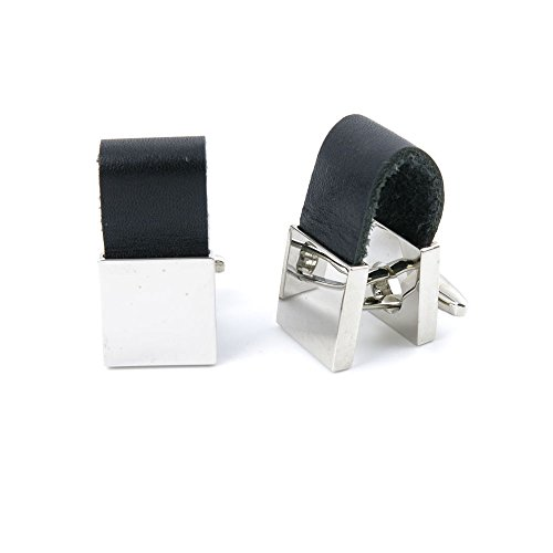 10 Pairs Men Boy Jewelry Cufflinks Cuff Links Party Favors Gift Wedding PD098 Strap Silver Block by YAOLIHONG JEWELRY