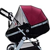 Huazi2_Baby Baby Infant Mosquito Fly Insect Net Stroller Pushchair Pram Mesh Buggy Cover Black