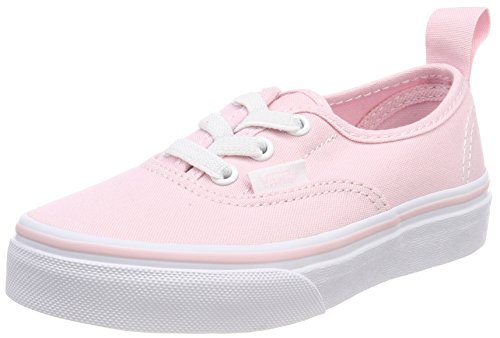 Vans Authentic Elastic Lace, Zapatillas Unisex Niños Rosa (Chalk Pink/true White Q1c)