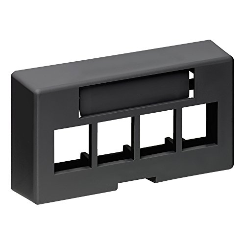 4 Port Faceplate Furniture - Leviton 49910-EE4 4-Port QuickPort Extended Depth Modular Furniture Faceplate, Black